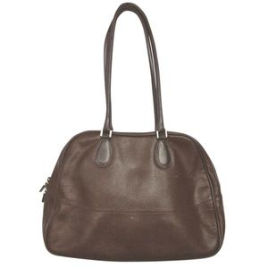 Furla Burgundy Leather Shoulder Bag